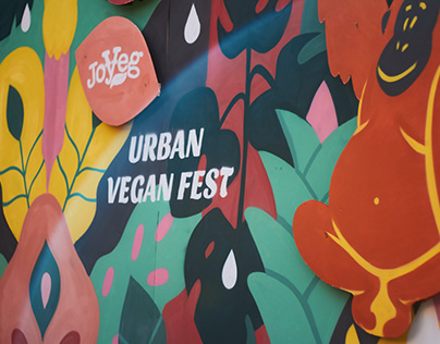 Urban Vegan Fest photo wall / shopper bag