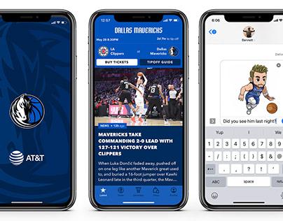 Dallas Mavericks iMessage Player Animation