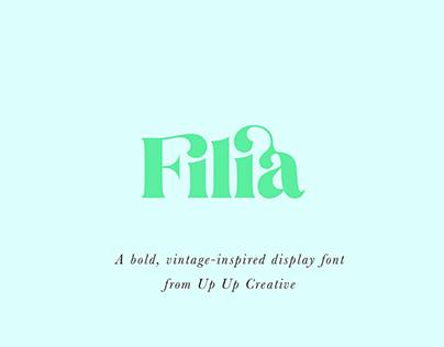 Introducing Filia, A Vintage-Inspired Serif Font