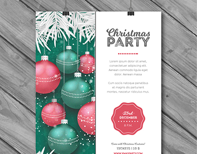 Christmas Party Poster | Designed for Freepik