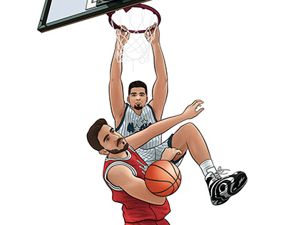 Vector basketbal players templates