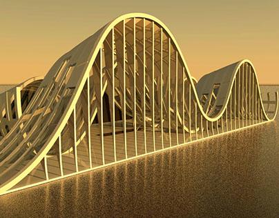 Beach pavillion - 3D Modelling