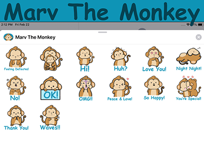 Marv The Monkey Imessage Sticker Pack