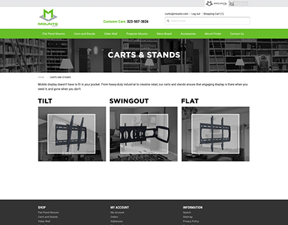 Mounts.com Refresh Website Design