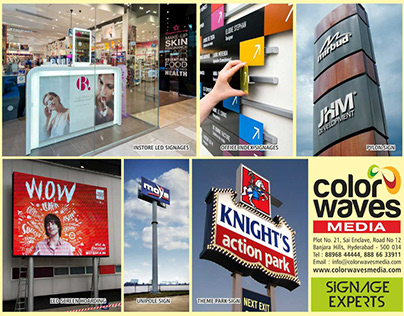 The Signage Experts in Hyderabad - Color Waves Media
