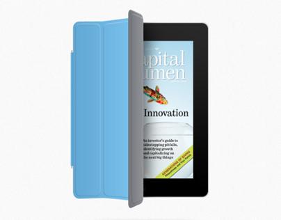 Capital Acumen magazine, iPad
