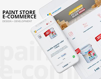 eCommerce UX/UI & Development | Pintureria S. Guillermo