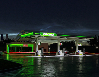 Visualization Petrol Station OKKO