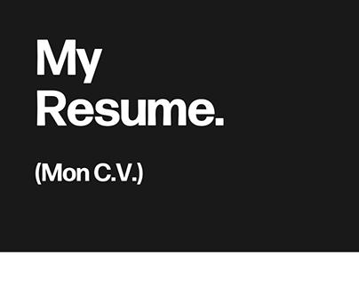 CV - Resume. Nightt Designs.