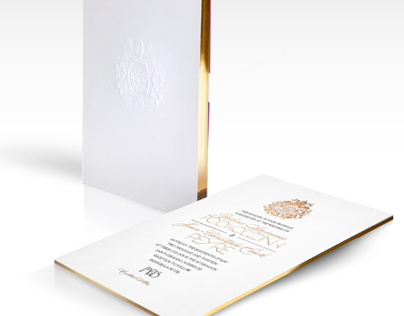 Paris Luxurious Wedding Invitation