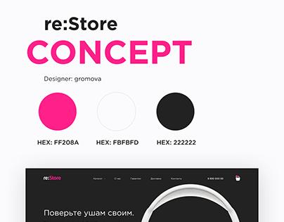 Restore web concept
