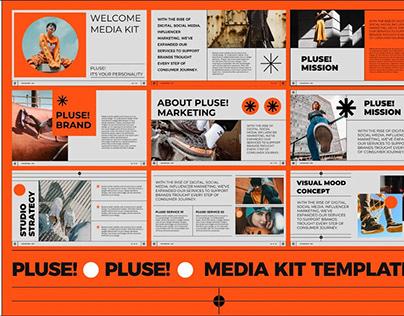 PLUSE !!! MediaKit PowerPoint Template