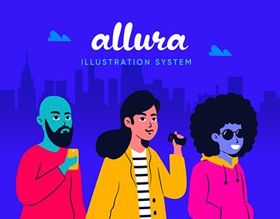 Allura Illustration System for Blush