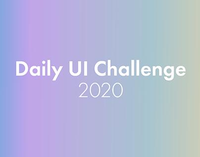 #DailyUI Challenge 2020
