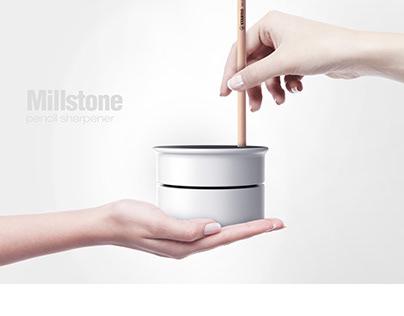 Millstone pencil sharpener