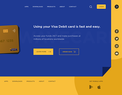Wavecard - Landing page