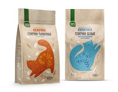 Senechka nuts&seeds packaging