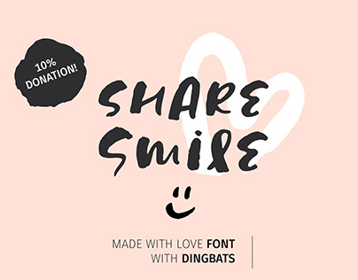 Share Smile - Brush Font + Dingbats