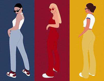 Women Illustrations for UI