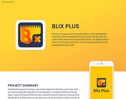 BLIX PLUS   Imaginary App Design