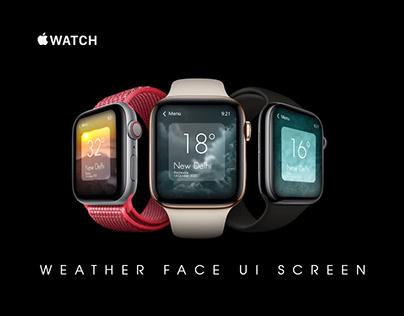 Apple Watch Weather Face UI Screen