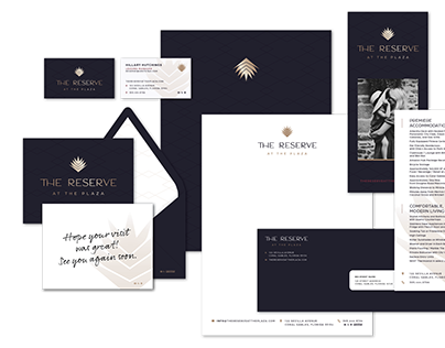 The Reserve at the Plaza Logo and Collateral Design
