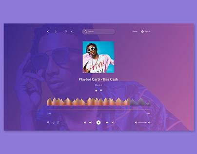 Daily UI 008 - Music player