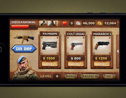 Gun shop screen