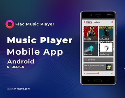 Flac Music Player Mobile App -Ui Design