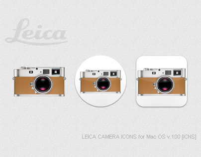 LEICA CAMERA ICONS for Mac OS v.1.00 [ICNS]
