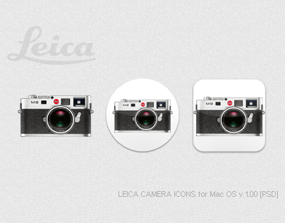 LEICA CAMERA ICONS for Mac OS v.1.00 [PSD]