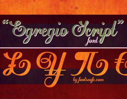 """""""Egregio Script"""" font"""