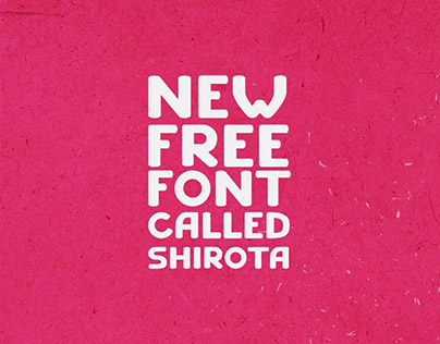 Shirota Free Stylish Typeface