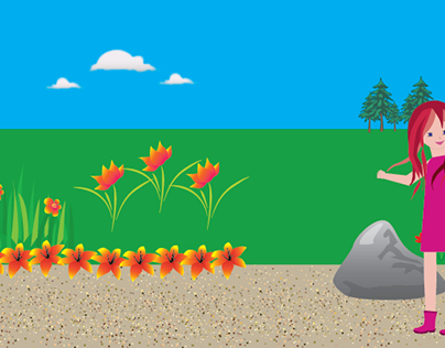 Walking Cycle Animation: Spring Day