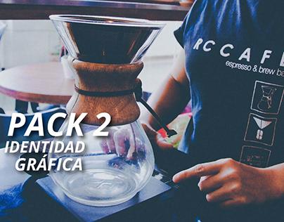 Identidad gráfica RC Café - pack 2