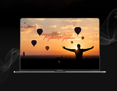 Educational project about Myanmar   Website concept