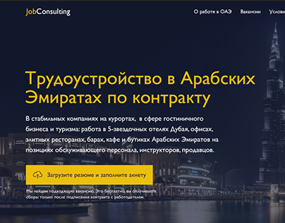 UAE Job Consulting Landing Page