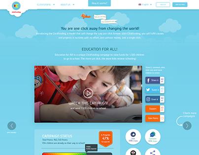 Clickfunding Website UI / UX Design & Development