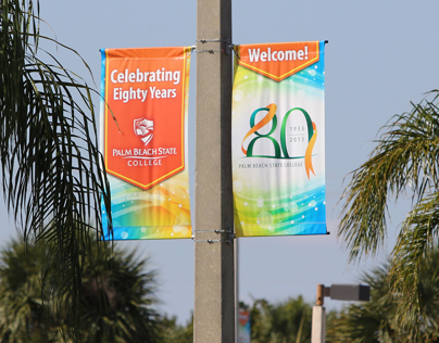 80th Anniversary pole banners