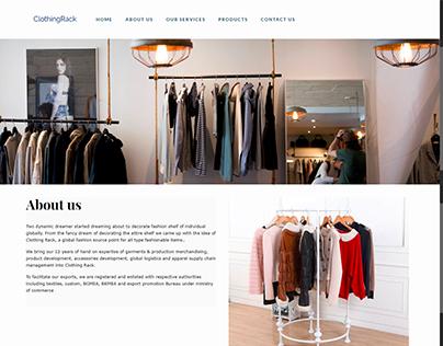 Clothing Rack Website Development