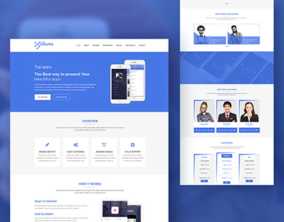 Topapps – Bootstrap Free App Landing Page