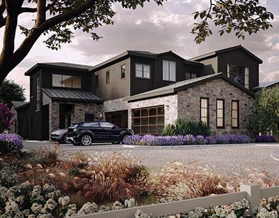 Villa renderings in Hidden hills