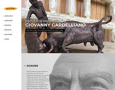Diseño web para Artista Plástico Giovanny Gardelliano
