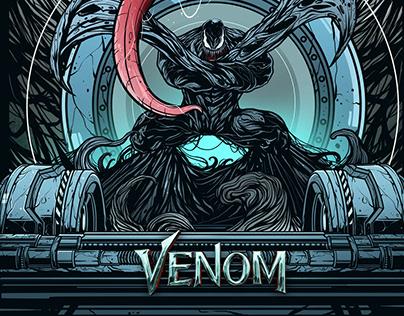 The Symbiote - Venom alternative poster