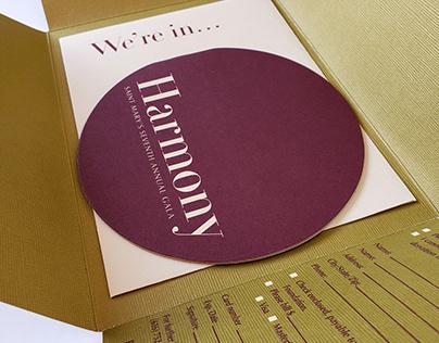"""Gala invitation: """"Harmony"""""""