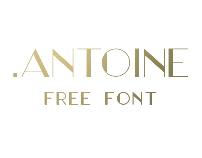 .Antoine - 5 weights - Free Font