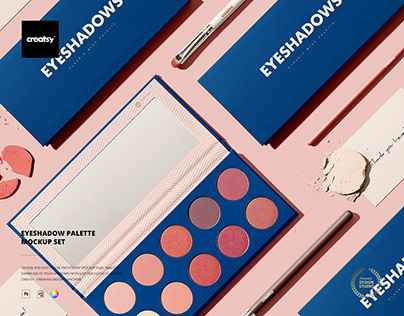 Eyeshadow Palette Mockup Set