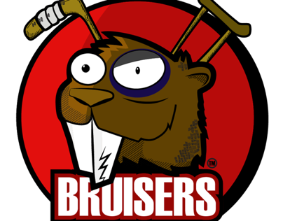 Bruisers Ball hockey Team logo
