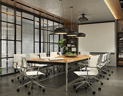 Conference Room 3D Rendering. A Stylish NYC Project