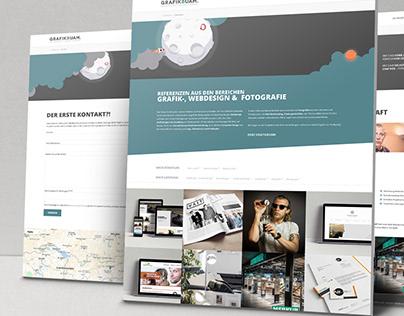Webdesign & Frontend-Entwicklung für Grafikbuam.